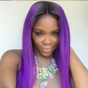 Ombré purple 360 wig